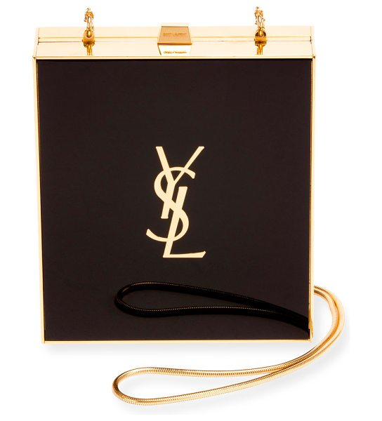 Saint Laurent Tuxedo Box Minaudiere in Black